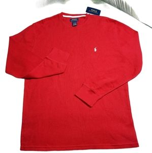 Polo Ralph Lauren Red Thermal Long Sleeve Top XL